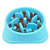 JasGood Eco-friendly Durable Non-Toxic Preventing Choking Dog Feeder Slow Eating Pet Bowl Healthy