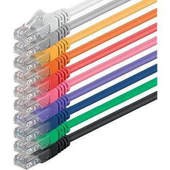 1aTTack–Câble réseau UTP avec connecteurs RJ45(Cat. 6, 10unités) multicolore Multicolore - 10 unités 5,0 Meter