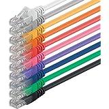 1aTTack - Cable de red UTP con conectores RJ45 (cat. 6) multicolor - 10 Unidades