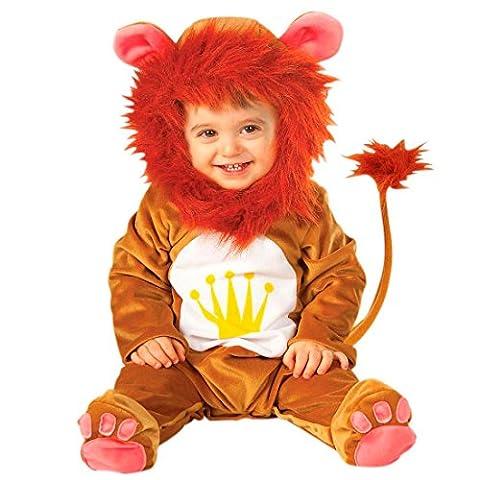 Baby Löwenkostüm Löwe Kostüm Overall Löwen Babykostüm Plüsch Strampler Lion Tierkostüm Fasching König der Tiere Karnevalskostüm Faschingskostüm Tier Mottoparty Verkleidung Karneval Kostüme für Kinder