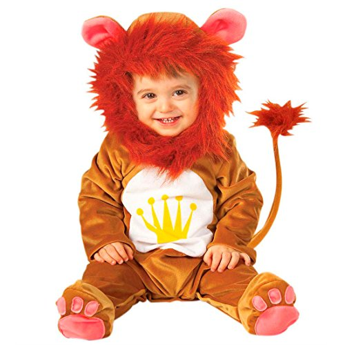 Baby Löwenkostüm Löwe Kostüm Overall Löwen Babykostüm Plüsch Strampler Lion Tierkostüm Fasching König der Tiere Karnevalskostüm Faschingskostüm Tier Mottoparty Verkleidung Karneval Kostüme für Kinder (Kostüme Baby Lion)