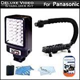 Best VidPro Video Cameras - Deluxe Video Stabilizer Kit For Panasonic HDC-SD40K HD Review