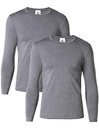 LAPASA Camiseta Térmica Manga Larga para Hombre Pack de 2/Pack de 1 -Brushed Back Fabric Technique- M09/M55