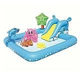 Große Kinder Wasser Aufblasbare Schwimmbad Planschbecken Spielzeug Pool Ball Pool Rutsche Größe: 239 * 206 * 86cm BULE (Farbe : A)