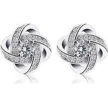B.Catcher coppia di orecchini da donna in argento, zirconi