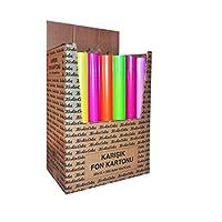 Keskin Color 201100-99 Karışık Poşetli Fon Kartonu A4 Ebadında, Çok Renkli, 10 Parça, 160 gr, 25x35 cm