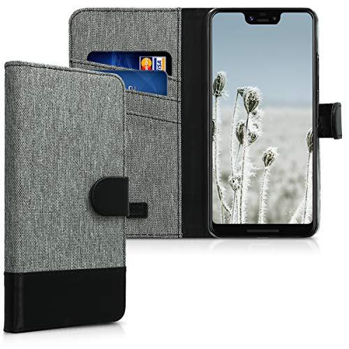 kwmobile Google Pixel 3 XL Hülle - Kunstleder Wallet Case für Google Pixel 3 XL mit Kartenfächern und Stand