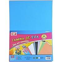 MP Eva - Pack de 10 laminas de goma Eva, multicolor