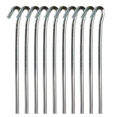 Strapazierfähige Zeltheringe, 5 x 230 mm, verzinkter Stahl, für Vorzelte, Gartenteichnetze, Camping, 20 Stück