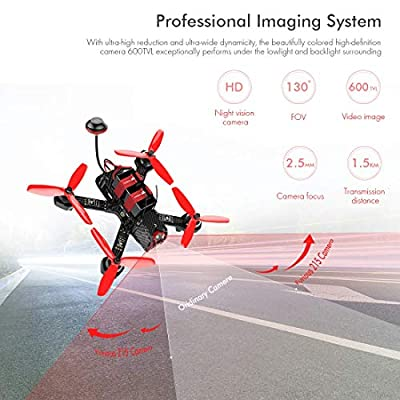Weyland WD215 RC Racing Drone with DEVO 7 Transmitter RC Quadcopter with 600TVL Camera and F3 Flight Control RTF