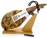 Prosciutto Spagnolo Serrano (Spalla) Riserva + Porta Prosciutto + Coltello 4.5 - 5 Kg - Jamon Serrano Crudo