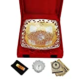 Silver Plated Bowl Set Glass Set Pooja P...