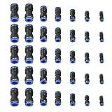 35pcs Connecteur Droit Pneumatique Raccords Rapides de Tube OD 4/6/8/10/12/14 / 16mm Connecter Raccord de Tube