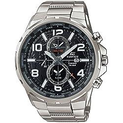 Casio Herren-Armbanduhr Edifice Analog Quarz Edelstahl EFR-302D-1AVUEF