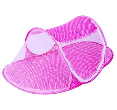 SQL Moskitonetz der faltbaren Kinder 110 * 60 * 38CM , pink - Faltbaren Moskitonetz