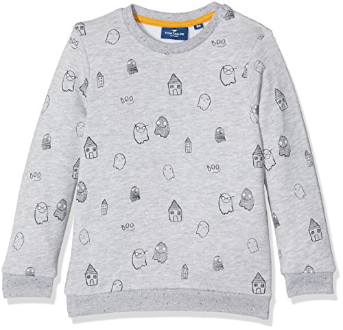 TOM TAILOR Kids Baby-Jungen Ghost Pattern Sweatshirt, Grau (Light Silver Melange 2014), 86 (Toms Kids Grau)
