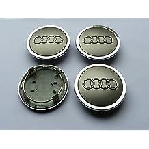 x4gris Audi 4unidades 69mm aleación nabendeckel nabenkappen Radkappen Mediados De Tapas TT A1A2A3A4A5A6A8Q5Q7, S-Line