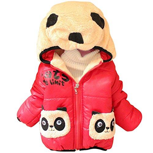 Tkria Bambini e sport giovanile Felpa con cappuccio Fleece Animal Panda cappotti 0.5-2 anni