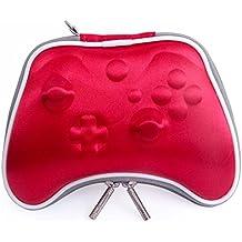 Pandaren® Caso duro bolsa de transporte airform para el Mando Xbox One (rojo)