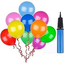 Lictin 100 Piezas Multicolores Globos de Decoración de Fiesta para la Fiesta de Cumpleaños de la Boda- Viene con 1 Inflador