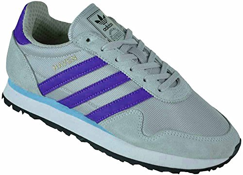 Adidas Haven Trainer Originals Trefoil Unisex Sneaker Chaussures de Sport Gris/Violet
