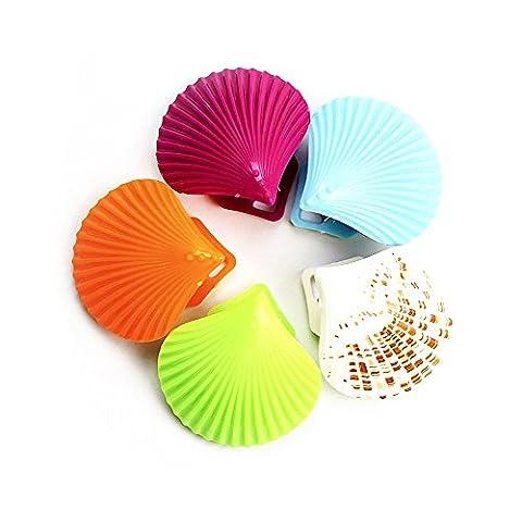 Zhi Jin Lot de 5Seashell Aimants de réfrigérateur, bureau Aimants, aimants pour tableau effaçable à sec Feuilles de papier Clips Clamp