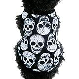 WINWINTOM Pet Puppy Small Dog Cat Pet Skull Vest T-Shirt (S)