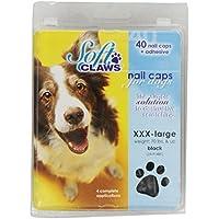 SOFTCLAWS® Krallenschutzes für Hund Große Jumbo (XXX-Large) Farbe Schwarz