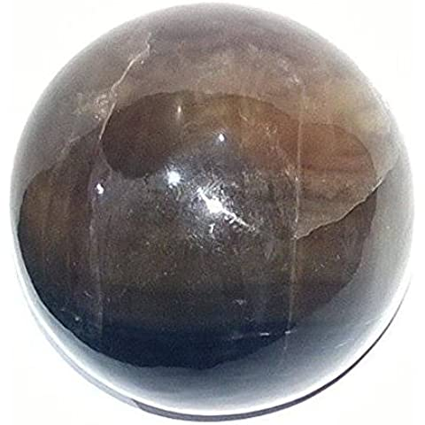 Healing Crystals India: Natural 50-60mm Fluorite Polished Crystal Sphere Ball Metaphysical Healing Mineral Feng Shui Chakra Aura Balance Home Decor Stone Free Shipping by Healing Crystals India