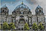 Diy Pintura Al Óleo Catedral De Berlín Pintura De Paisaje Para Colorear Por Números Pintados A Mano Lienzos Pintados A Mano Para La Decoración Del Hogar Sin Marco, 50X60