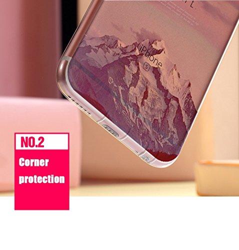 Cover iphone 6, Custodia iphone 6s, Sunroyal® Paesaggio Scenario Creativa Cover Ultra sottile Silicone Morbido Flessibile TPU Gel Protettivo Skin Caso Custodia Protettiva Shell Case Cove