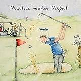 Berni Parker Weinglas Golf Karte üben, leicht.–blanko Grüße Karte von (ML44)