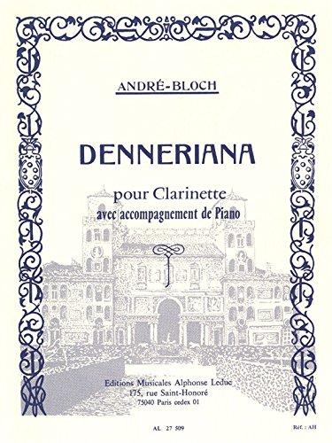 DENNERIANA CLARINETTE ET PIANO