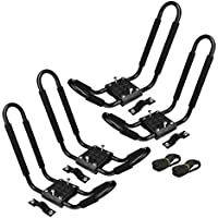 2 Pairs Snowboard Kayak Carrier Boat Canoe Surf Ski Board Roof Top Mounted Rack by New Unbrand