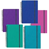 Snopake A4 Note Guard Hard Back Note Books in Electra - Assorted (Pack of 5)