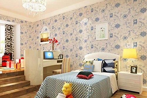 BBSLT Mediterraneo orientale vintage mappa nautica di stanza dei bambini a parete Ufficio carta del tessuto-non-tessuto camera da letto soggiorno sfondo , 2 , 53 * 1000cm - Stati Uniti Schiuma Mappa