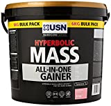 USN Hyperbolic Mass All-In-One Gainer Shake Powder, Strawberry, 6 kg