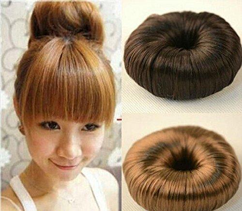 Perücke Baby (Haarteil Glatter Dutt Haar Knoten Perücke in 3 Farben erhältlich)