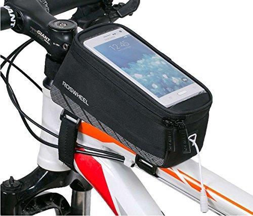6f6468c2a66 Bicicleta Bolsa de la bicicleta frontal Tubo Alforja Bolsa Doble para  bicicleta bajo de 5