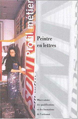 Peintre en lettres par Jacques Pillemont