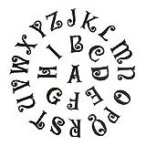 Shoppy Star Maxisin 2,5 cm Schwarze englische Buchstaben, zum Aufbügeln, für Kleidung, Dekoration, Abzeichen aus Stoff, Aufkleber für Kleidung: Y