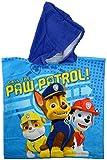 Paw Patrol 0122015 Bade-Poncho, 100% Baumwolle, Blau, 50 x 100 x 1.5 cm