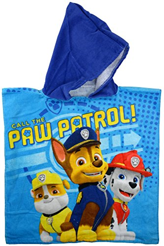 Paw Patrol 0122015 Bade-Poncho, 100% Baumwolle, blau, 50 x 100 x 1.5 cm (Baumwoll-jersey United)