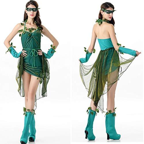 Griechischen Bühne Kostüm - YRE Grüne Elf Kostümbaum Demon Spielen Kostüm, Rollenspiel-Bühne Kostüm, griechische Göttin-Kleid, Halloween-Kostüm