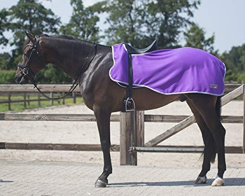 QHP Nierendecke Fleece-Ausreitdecke Color Fleecedecke Sattelausschnitt (XL, Passion Flower)