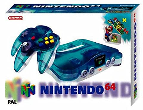 Console N64 Clear Blue + Super Mario 64