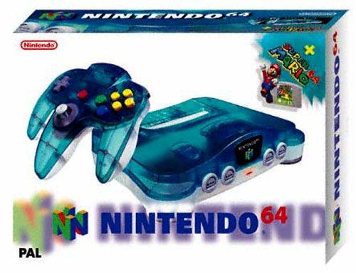 Nintendo 64 - Gerät Clear-Blue + Super Mario (Nintendo 64 Super Mario Spiel)