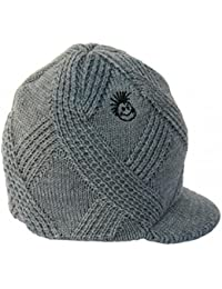 9e8e1f5f565 ... Clothing   Accessories   Boys   Accessories   Hats   Caps   Born to Love.  Knuckleheads - Gray Boy s Baby Visor Beanie Hat with Stripes Detail (SM