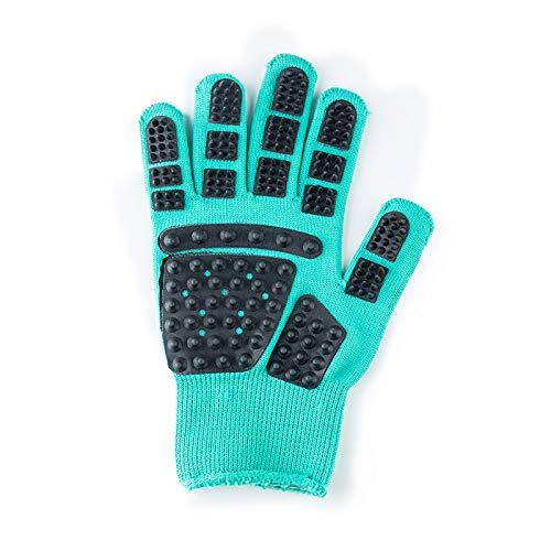 Haustierbad Massage Gummi Verdickung Handschuhe Anti-Kratz Außer Katze Und Hund Schwimm Haar (1 Paar),Green