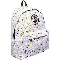 Hype Mochila | mochila moteado | color Splat Kids School Bolsas, Blanco/Manchas multicolor,